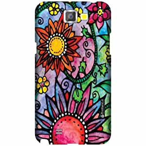 Printland Designer Back Cover for Samsung Galaxy Note 2 N7100 - Abstract Case Cover