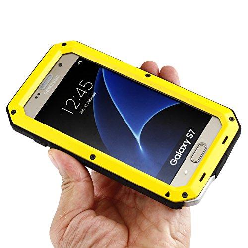 MNBS Phone Coque Etui Housse Antichoc Militaire Heavy Duty Shock Proof Survivor Protective Housse Pour iPhone 6/6SRed Yellow 9