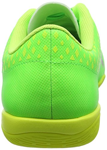 Puma Evopower Vigor 4 It, Chaussures de Football Mixte Enfant Vert (Green Gecko-puma Black-safety Yellow 01)
