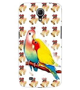 ColourCraft Love Birds Design Back Case Cover for SAMSUNG GALAXY MEGA 6.3 I9200