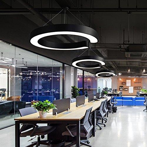 Kreative LED Ring Hängelampe C-Förmige Pendelleuchten Metall Hohle Runde Lampe Schlafzimmer Restaurant Gang Balkon Studie Pendellampe Moderne Minimalistische Haushalt Deckenleuchten Ø40CM*H10CM