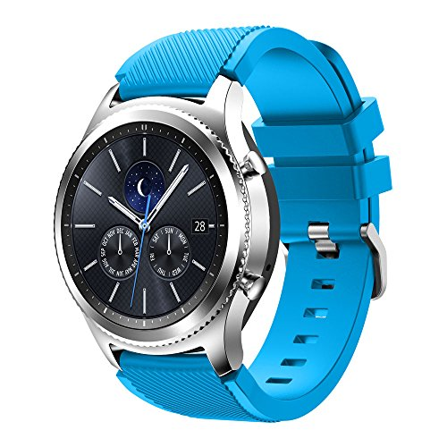 Gosuper Soft Silicone Sport Replacement Strap for Samsung Gear S3 Frontier/S3 Classic/Galaxy Watch 46mm Smart Watch