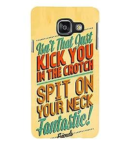 FUSON Kick Split Fantastic 3D Hard Polycarbonate Designer Back Case Cover for Samsung Galaxy A3 (6) 2016 :: Samsung Galaxy A3 2016 Duos :: Samsung Galaxy A3 2016 A310F A310M A310Y :: Samsung Galaxy A3 A310 2016 Edition