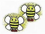 2er Kühlpad Wärmepad mehrfach Kompresse Kühlkissen Kinder wärmen kühlen Biene