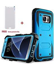 Galaxy S7 Edge Hülle (2016 Freisetzung), GEREE Ganzkörper -Schutz Shock Rugged Holster Abdeckungs-Fall, mit freiem Schirm-Schutzfolie für Samsung Galaxy S7 Edge