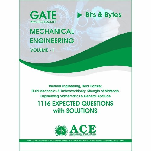 GATE 2018 Mechanical Practice Book volume 1, for 1116 Expected Questions with solutions  available at amazon for Rs.300