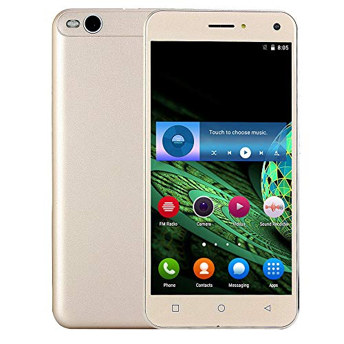 "Oasics Smartphone, Dual-HD-Kamera-Smartphone Unlocked 5,5""Smartphone 4Core AT & T T-Mobile 3G 4 GB 2SIM Android-Handy WiFi Bluetooth Smartphone (Gold)"