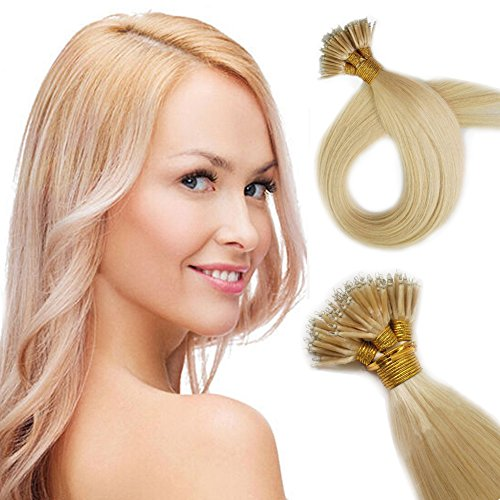 Yotty Haarverlängerung, 20Inch 1g/s 100S, , Platinum Blonde 60 (Natürliches 1g)