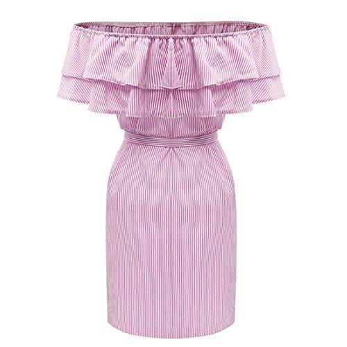 DINGANG Damen Kleid Rose