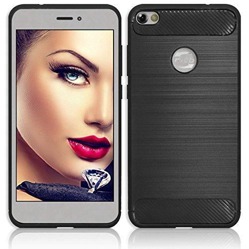 mtb more energy® Hülle Carbon für Samsung Galaxy S10e (SM-G970, 5.8\'\') | Schwarz | flexibel | TPU Case Cover Tasche Schutzhülle