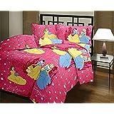 Style Seven Beautiful Barbie Pink Kids Print Single Bed Dohar/Comforter/ Quilt