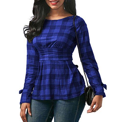 Juleya Camicie Donna Manica Lunga Top Sexy Off Shoulder Maglietta Donne Tshirt Camicetta Tinta Unita Casual Allentato Top Aderente Morbido Confortevole Rosa