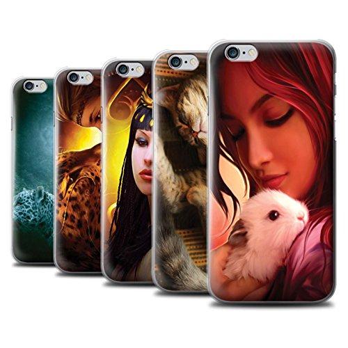 Officiel Elena Dudina Coque / Etui pour Apple iPhone 6 / Cleopatra/Serpent Doré Design / Les Animaux Collection Pack 16pcs