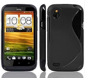 HTC Desire X Magic Brand S-Line Black Soft Silicon Back Cover Case