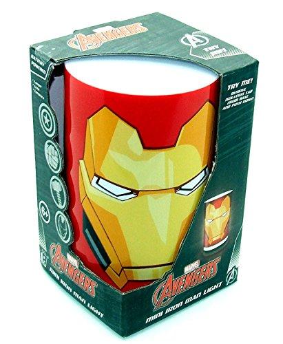 Iron Man Ensemble de lumière de nuit, Rouge et jaune, Single Iron Man Mini Light