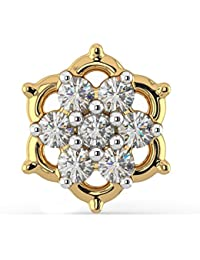 Joyalukkas Pride Diamond Collection 18k Yellow Gold and Diamond Nose Pin for Women