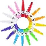 Blulu 16 Pezzi Kazoos di Plastica 8 Colorati Kazoos Strumenti Musicali, Buon Compagno per Chitarra, Ukulele, Violino, Tastiera di Pianoforte, Grande Dono per Amanti della Musica (16 Pezzi)