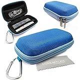 Stylebitz / Étui rigide pour MP3 + écouteurs, mousqueton en métal pour Apple iPod Nano 7è génération avec chiffon de nettoyage Stylebitz (bleu)