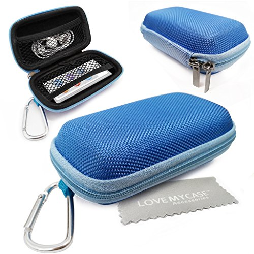 love-my-case-durable-blue-mp3-player-case-hard-clamshell-case-earphone-case-holder-with-metal-carabi