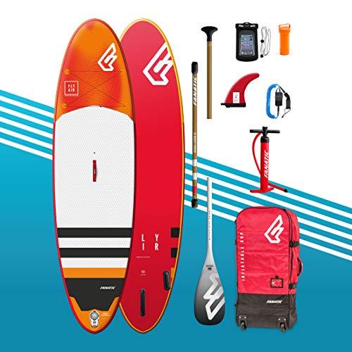 Fanatic Planche de Stand up Paddle Gonflable 10'4 Fly Air Premium avec Paddle - Pompe à Sup - Palme...