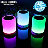 XORDUX™ Limited OFFER ONLY : XORDUX Smart Wireless Bluetooth Speaker , Portable Bluetooth Speaker With Smart Touch LED Mood Lamp , With SD Card Slot / AUX Input, With Microphone To Connect Calls - Wireless Bluetooth Speakers Compatible With All Blue