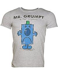T shirt homme Monsieur Madame Mr Grumpy Monsieur Grincheux gris