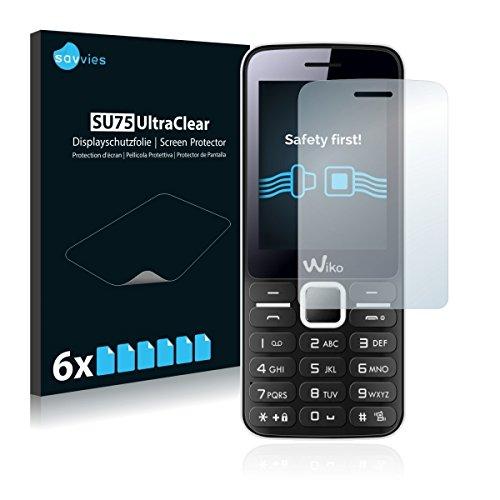 6x Savvies SU75 UltraClear Bildschirmschutz Schutzfolie für Wiko Riff (ultraklar, mühelosanzubringen)
