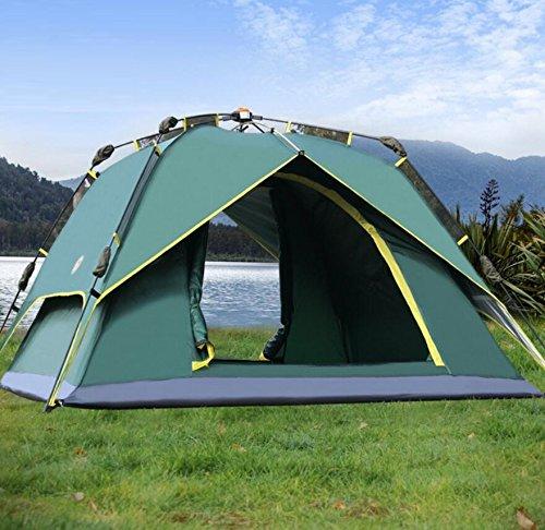 ZC&J Al aire libre 3-4 personas carpas automáticas, silvestres, camping, tiendas de...
