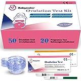 50 x Ovulationtest LH 20miu/ML + 20 x Schwangerschaftstest hCG Frühtest 10 miu/ML, Fertilitätsmonitor Teststreifen Predictor Teststäbchen Fruchtbarkeit Kit -
