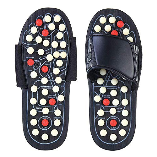 DAZIBAO® Spring Acupressure and Magnetic Therapy Accu Paduka Slippers for Full Body Blood Circulation Natural Leg Foot Massager Slippers For Men and Women (Unisex) (Size 6, 7, 8, 9)