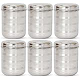[Sponsored]Jagani Steels Stainless Steel Storage Container Multi Purpose Unbreakable Canister, 1000 Ml - Set Of 6 Pcs