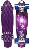 D Street Polyprop Cruiser Galaxy Skateboard Multi-Violett Multicolor Violett, Standard