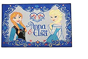 kinder teppich kinderteppich mit frozen anna und elsa die eisk nigin v llig. Black Bedroom Furniture Sets. Home Design Ideas