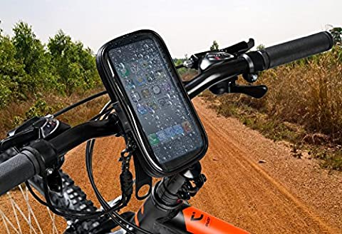 Bike phone mount bike phone Holder with waterproof case for smartphones up to 5.5