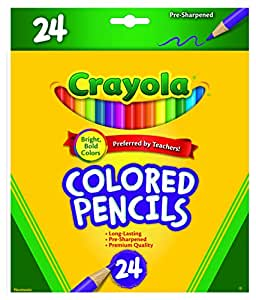Crayola Colored Pencils, Assorted Colors, 24 count (68-4024 ...