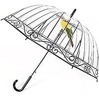 Snner Paraguas Transparente Giro Larga de pájaro en la Jaula por Soleado y días lluviosos