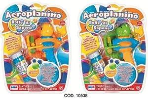 RONCHI SUPERTOYS SRL- 10538 AEROPLANINO Burbujas jabón, Color