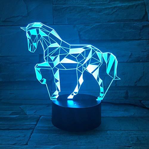 HYHXYD-3D-LED-Veilleuse-Optiques-Illusions-Lampe-de-Nuit-7-Couleurs-Tactile-Lampe-de-Chevet-Chambre-Table-Art-Dco-Enfant-Lumire-de-Nuit-avec-Cble-USBCheval
