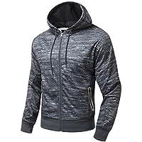 AIRAVATA Uomo Maglione Zipper Completa Classico Vestibilità Slim Felpa Con Cappuccio Escursioni, Campeggi e Altro S Alla XL
