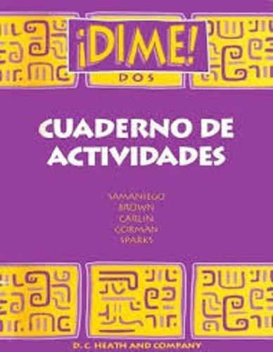 Dime DOS Cuaderno De Actividades par McDougal Littel