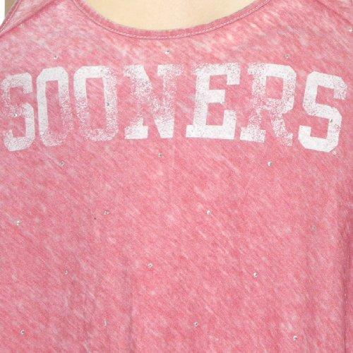 NCAA Oklahoma Sooners Damen Tank Top mit Strasssteine (Vintage Look) rot