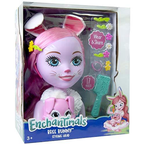Busto Bunny Bree de Enchantimals de 29cm con accesorios para el pelo (Simba 9200144)