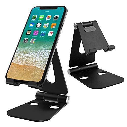 G-Color Support Téléphone Portable, Multi-Angles Réglable en Alliage d'Aluminium, Pliable et Facile à Porter Portable Support Dock pour Smartphone et Nintendo Switch, etc. - Noir