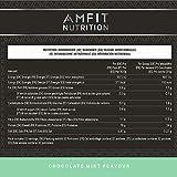 Marchio Amazon - Amfit Nutrition Mix di proteine Whey del siero di latte gusto menta e cioccolato, 32 porzioni,  990 g