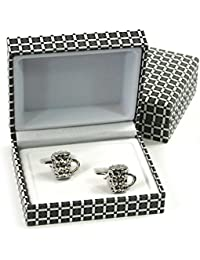 Unique & Different Design Cufflinks Set in a High Quality Gift Box (Beer / Pint Glasses)