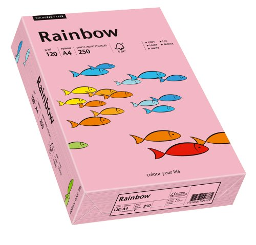 Papyrus 88042546 Druckerpapier Rainbow 120 g/m², A4 250 Blatt rosa