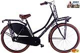 Damenrad 3 Gang Spirit Transporter 28 Zoll matt-schwarz 53 cm + gratis Handbremse