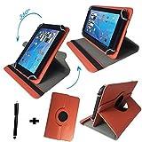 Asus Prosieben Entertainment Pad - Drehbare Tablet Schutzhülle mit Standfunktion + Touch Pen – Orange 8 Zoll 370