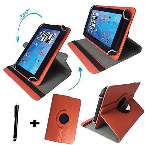 Tablet Tasche für Lenovo IdeaTab S8-50L LTE Schutz Hülle Etui Case + Touch Pen – Orange 8 Zoll 370