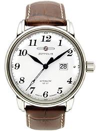 Zeppelin Herren-Armbanduhr XL LZ127 Graf Analog Automatik Leder 76521S